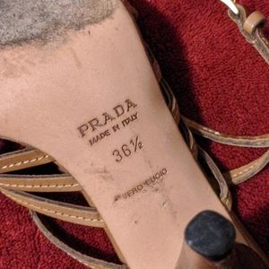 Prada Shoes - Vintage Prada Woven Leather Sandal Pumps